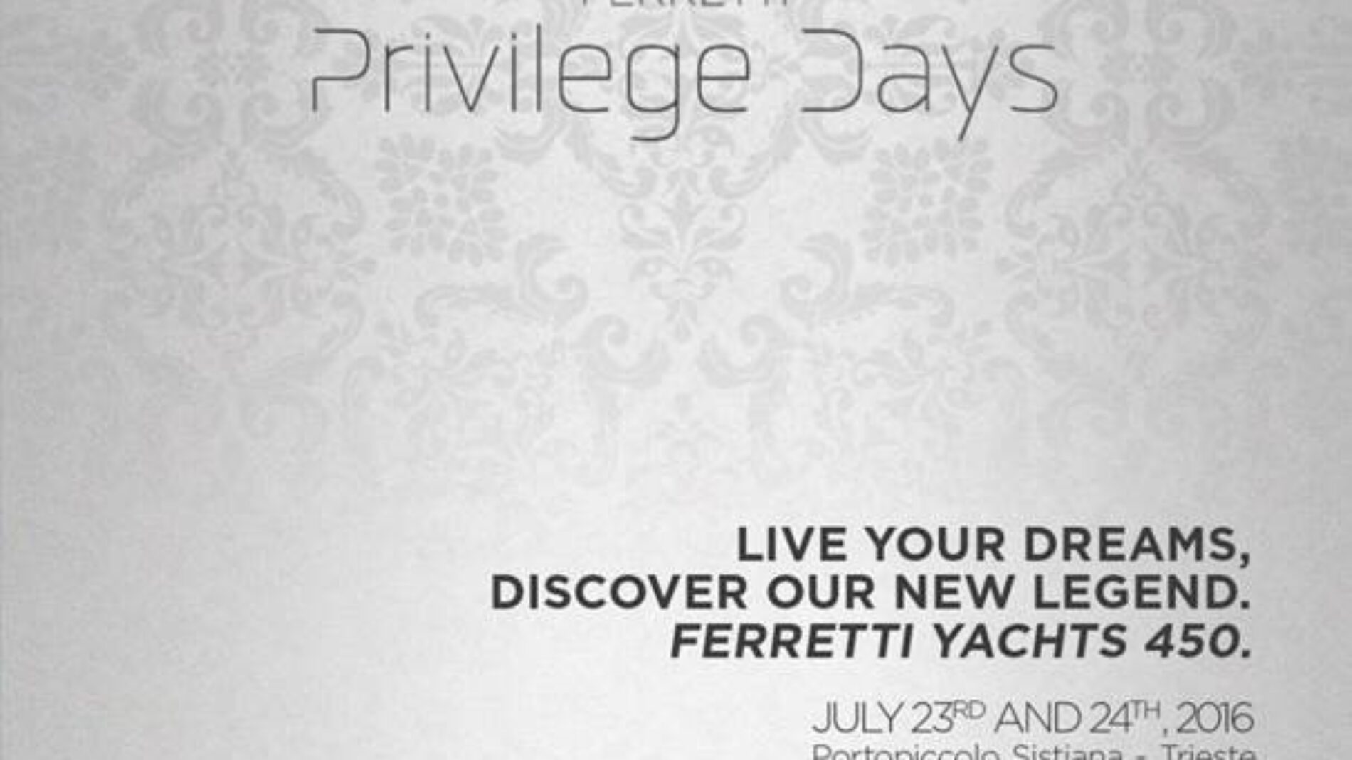 Ferretti Privilege Days 2016