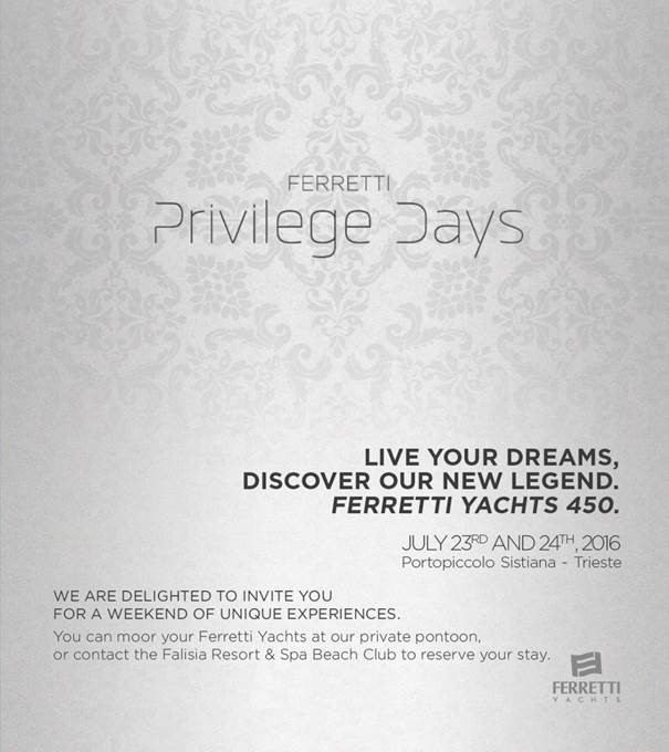 Ferretti Privilege Days 2016