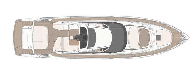 Riva 76′ Bahamas - Layout - Sun Deck