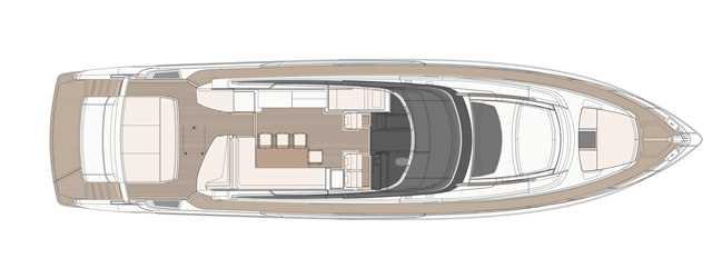 Riva 76′ Bahamas - Layout - Main Deck
