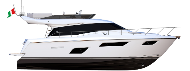 Ferretti Yachts 450 - Layout - Profile