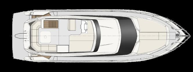 Ferretti Yachts 450 - Layout - Sun Deck
