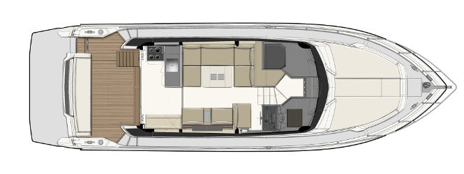 Ferretti Yachts 450 - Layout - Main Deck
