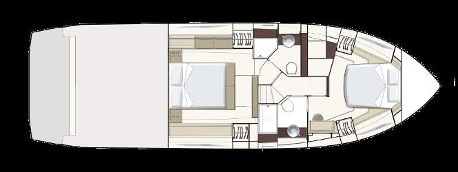 Ferretti Yachts 450 - Layout - Lower Deck