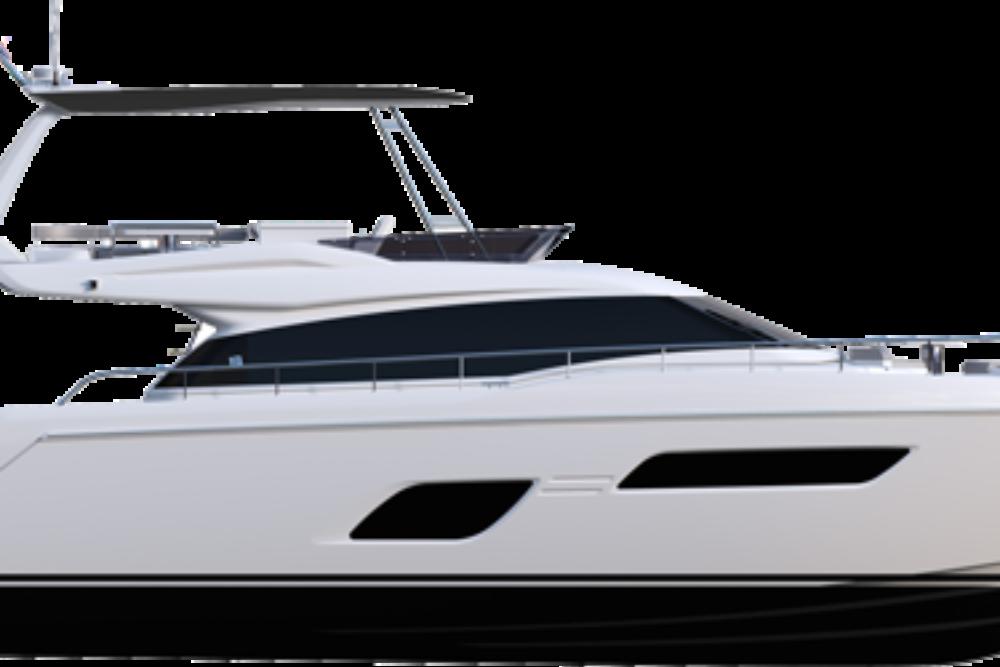 Ferretti Yachts 550 - Layout - Hard Top Version