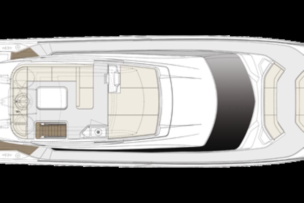 Ferretti Yachts 550 - Layout - Flybridge