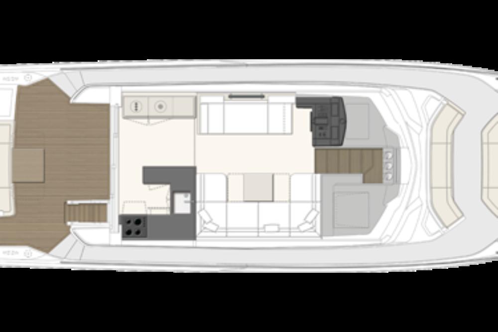 Ferretti Yachts 550 - Layout - Main Deck