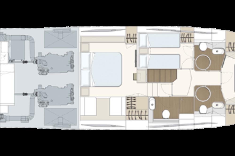 Ferretti Yachts 550 - Layout - Lower Deck