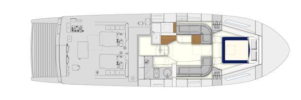 Itama 45 S - Layout - Lower deck