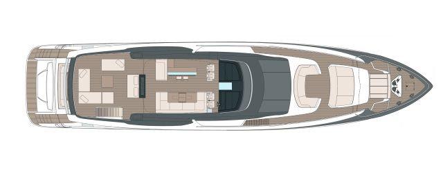 Riva 110′ Dolcevita - Layout - Sun Deck