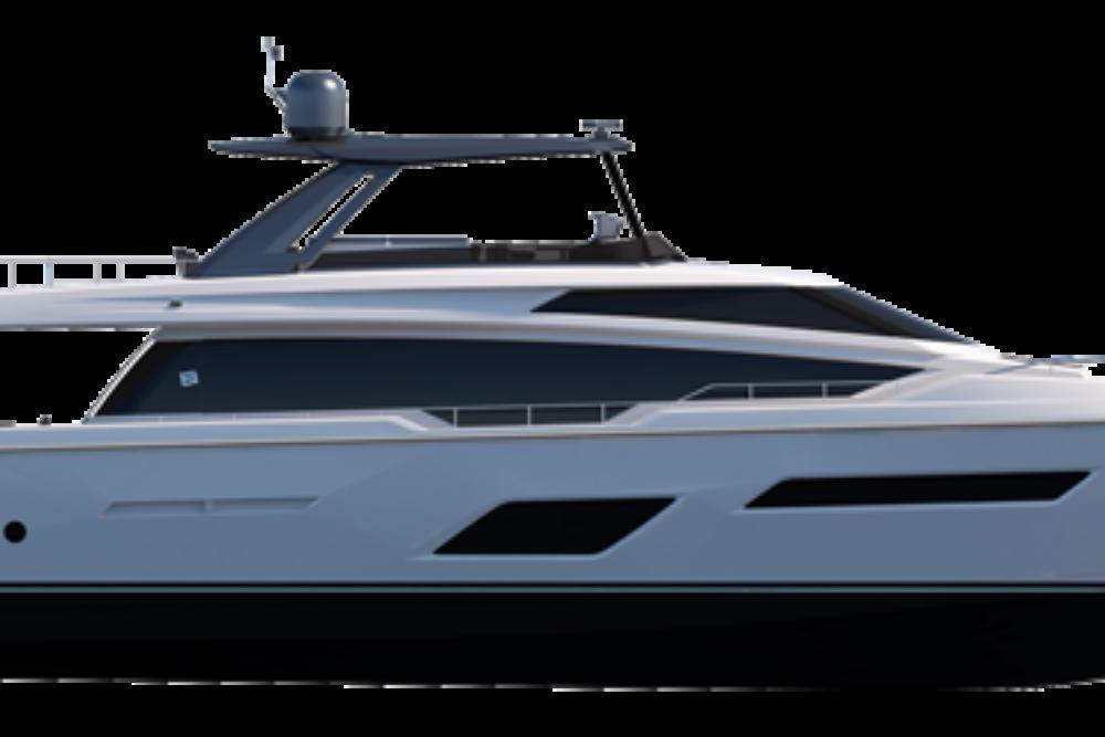 Ferretti Yachts 780 - Layout - Profile Hard Top