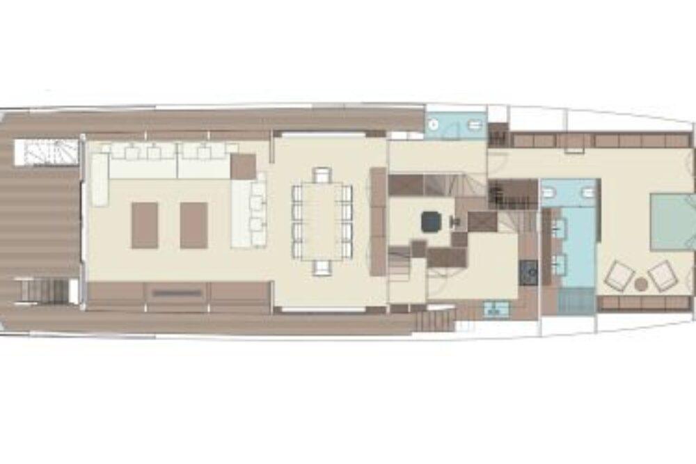 Riva 110′ Dolcevita - Layout - Main Deck
