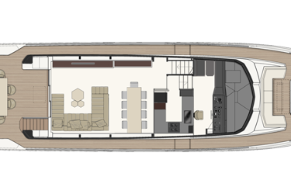Ferretti Yachts 780 - Layout - Main Deck
