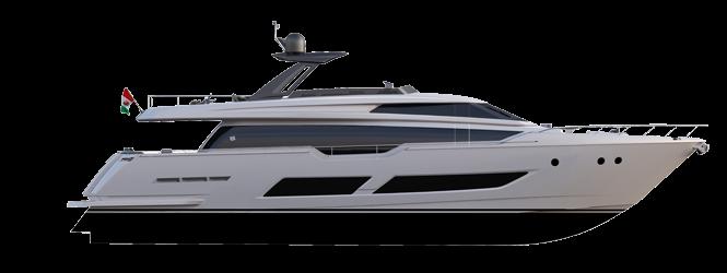 Ferretti Yachts 850 - Layout - Profile