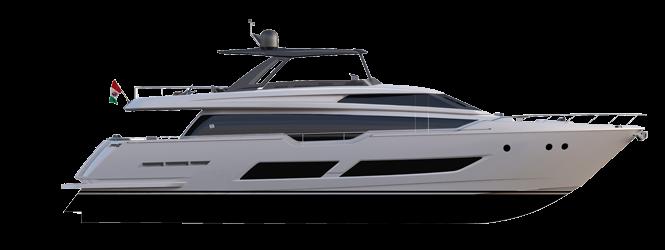 Ferretti Yachts 850 - Layout - Hard top Version