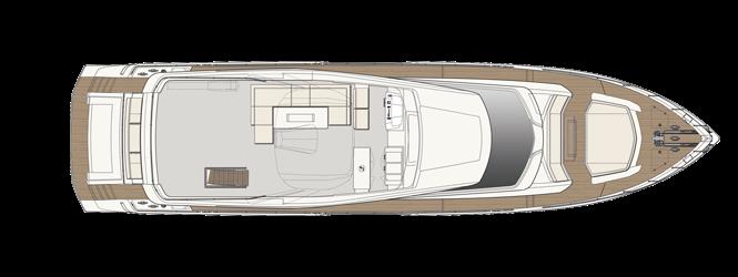 Ferretti Yachts 850 - Layout - Sun Deck