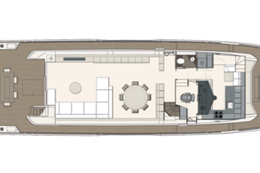Ferretti Yachts 850 - Layout - Main Deck