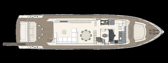 Ferretti Yachts 850 - Layout - Main Deck