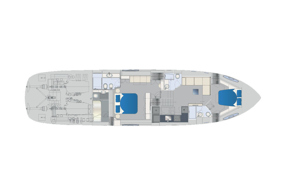 Pershing 70 - Layout