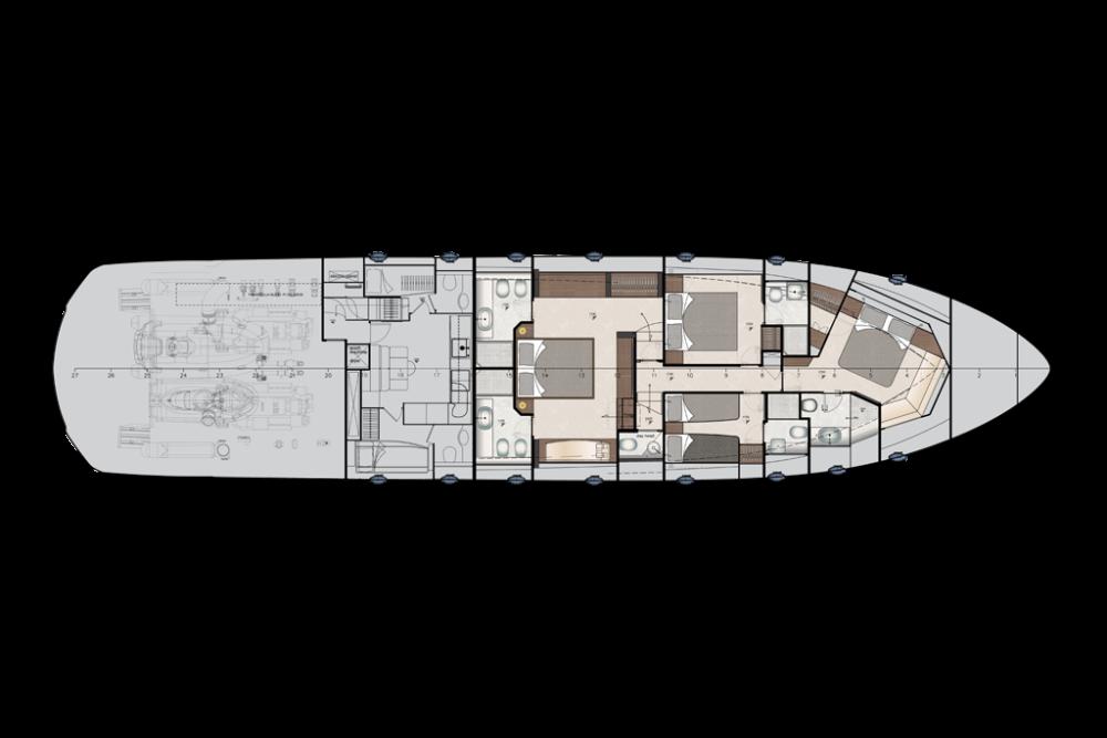Pershing 9x - Layout