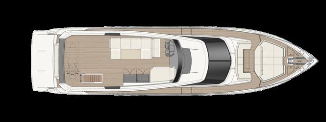 Ferretti Yachts 780 - Layout - Sun Deck