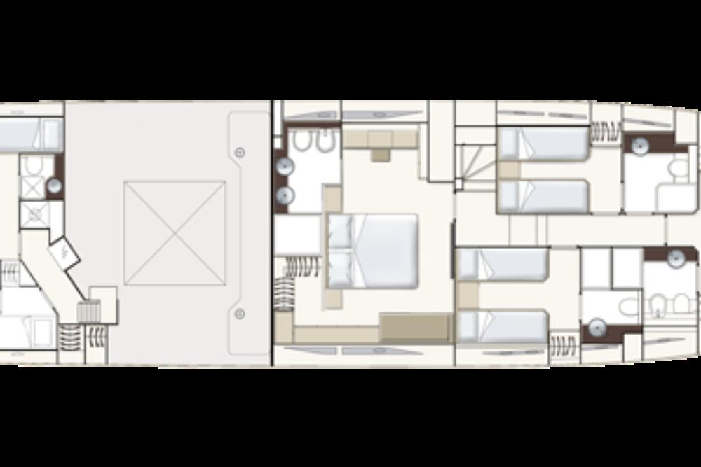 Ferretti Yachts 780 - Layout - Lower Deck