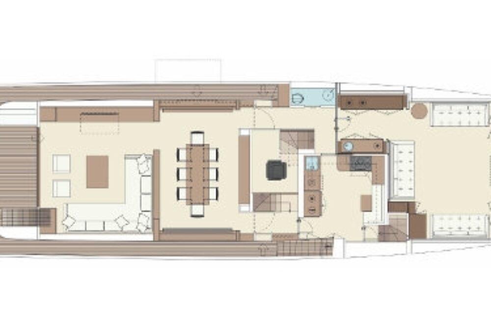 Riva 100′ Corsaro - Layout - Main Deck