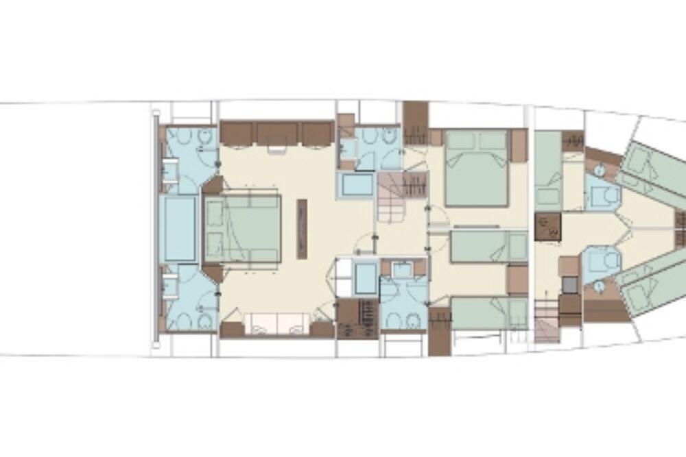 Riva 100′ Corsaro - Layout - Lower Deck