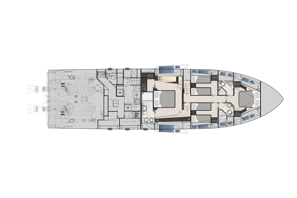 Pershing 8x - Layout