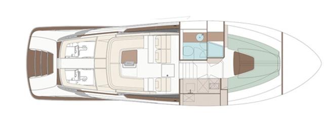 Riva Rivamare - Layout - Lower Deck