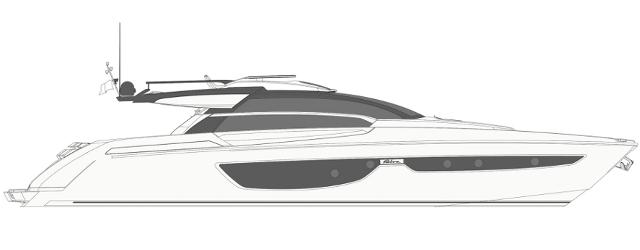 Riva 76′ Perseo - Layout - Profile