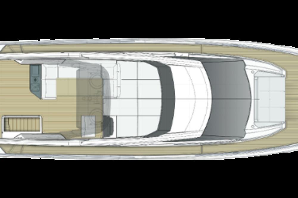 Ferretti Yachts 720 New - Layout - Sun Deck