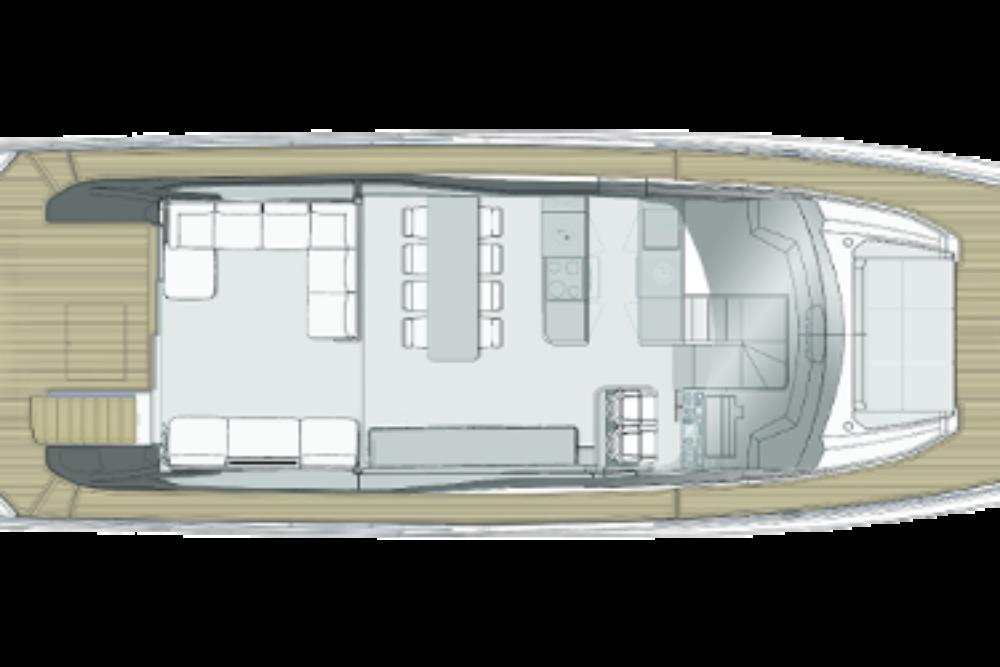 Ferretti Yachts 720 New - Layout - Main Deck
