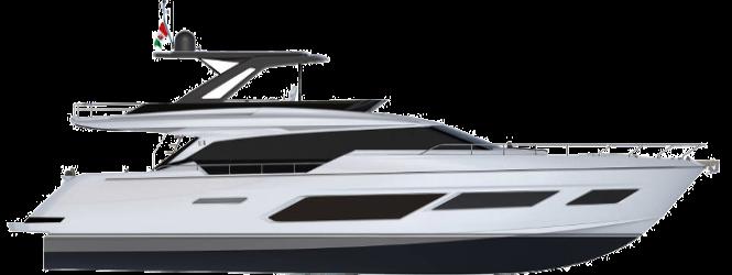 Ferretti Yachts 720 New - Layout - Profile
