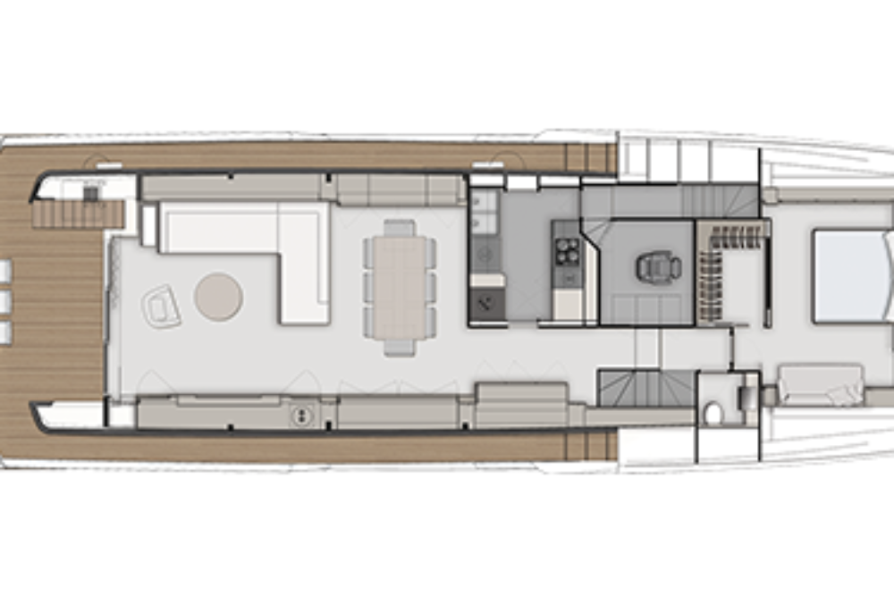 Ferretti Yachts 920 - Layout - Main deck