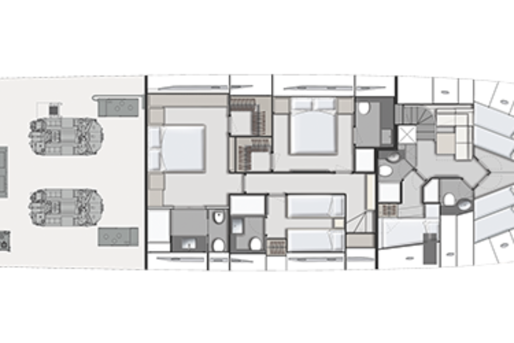 Ferretti Yachts 920 - Layout - Lower Deck