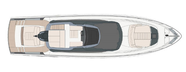 Riva 66′ Ribelle - Layout - Flydeck