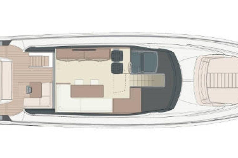 Riva 66′ Ribelle - Layout - Main Deck