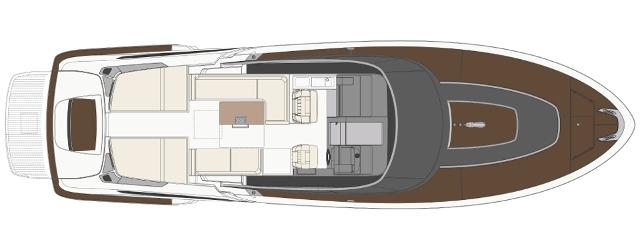 Riva Dolceriva New - Layout - Main Deck