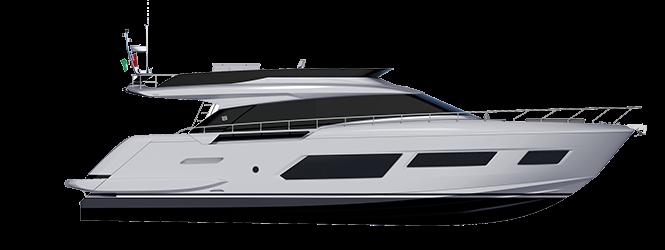 Ferretti Yachts 670 - Layout - Profile