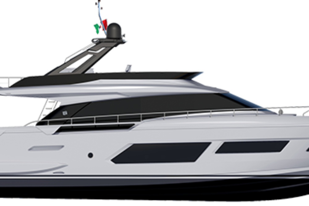 Ferretti Yachts 670 - Layout - Profile