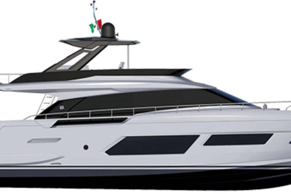 Ferretti Yachts 670 - Layout - Profile (Hard Top)
