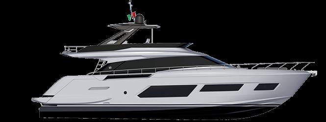 Ferretti Yachts 670 - Layout - Profile (Hard Top)