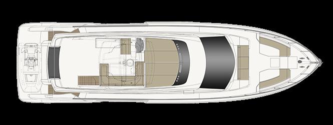Ferretti Yachts 670 - Layout - Sun deck