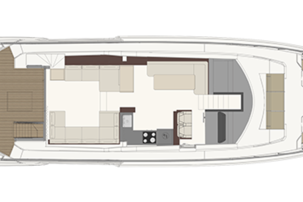 Ferretti Yachts 670 - Layout - Main deck