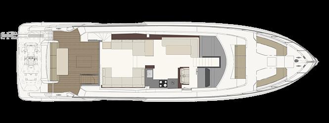 Ferretti Yachts 670 - Layout - Main deck