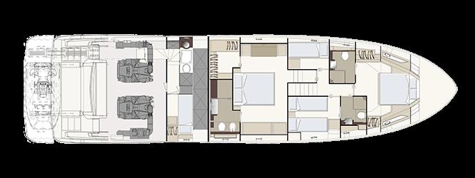 Ferretti Yachts 670 - Layout - Lower deck
