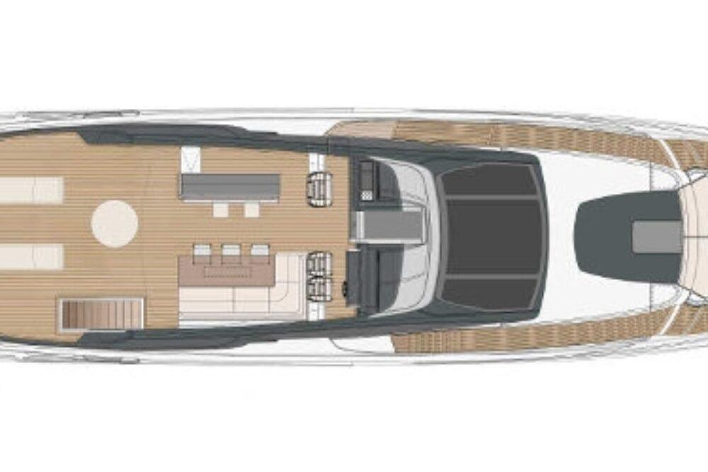 Riva 90′ Argo New - Layout - Sun Deck