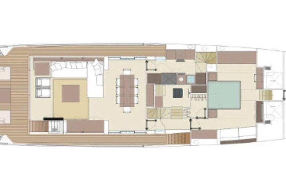 Riva 90′ Argo New - Layout - Main Deck