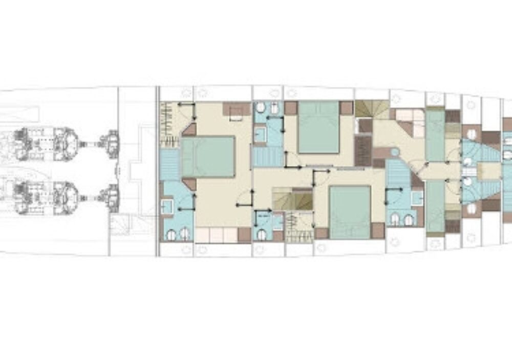 Riva 90′ Argo New - Layout - Lower Deck